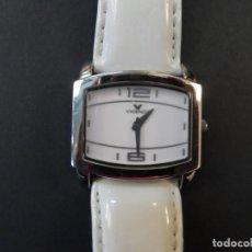 Relojes - Viceroy: RELOJ SEÑORA CORREA CUERO BLANCO EN ACERO BRILLO. VICEROY. QUARTZ. SIGLO XXI. Lote 191283766