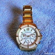 Relojes - Viceroy: RELOJ VICEROY ACERO DORADO SEÑORA. COLECCIÓN FEMME. BISEL Y ESFERA DE NACAR (NUEVO, SIN USO ).. Lote 191334871