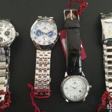 Relojes - Viceroy: 4 RELOJES NUEVOS VICEROY 3 DE ACERO Y 1 DE PIEL. 3 GARANTÍAS Y ALGÚN CERTIFICADO GUARDADOS TIENDA. Lote 204395336