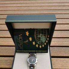 Relojes - Viceroy: RELOJ VICEROY EN CAJA SIN ESTRENAR - MUJER - ACERO INOXIDABLE - MODELO 40216 ESFERA NEGRA. Lote 206874395