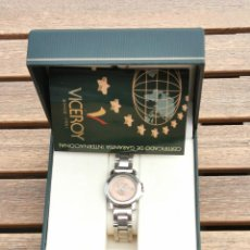 Relojes - Viceroy: RELOJ VICEROY EN CAJA SIN ESTRENAR - MUJER- ACERO INOXIDABLE - MODELO 40216 ESFERA DORADA. Lote 206874700
