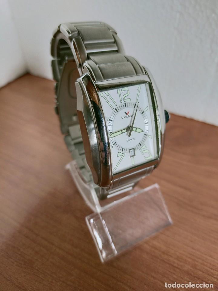 Relojes - Viceroy: Reloj caballero cuarzo VICEROY de acero con calendario a las seis horas, correa acero con anagrama - Foto 3 - 213350150