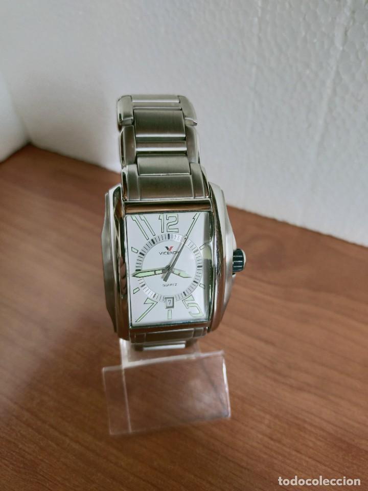Relojes - Viceroy: Reloj caballero cuarzo VICEROY de acero con calendario a las seis horas, correa acero con anagrama - Foto 12 - 213350150