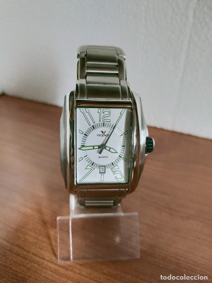 Relojes - Viceroy: Reloj caballero cuarzo VICEROY de acero con calendario a las seis horas, correa acero con anagrama - Foto 18 - 213350150