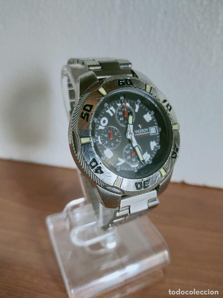 Relojes - Viceroy: Reloj caballero acero VICEROY cronografo cuarzo con calendario a las tres, correa acero no original. - Foto 5 - 213073516