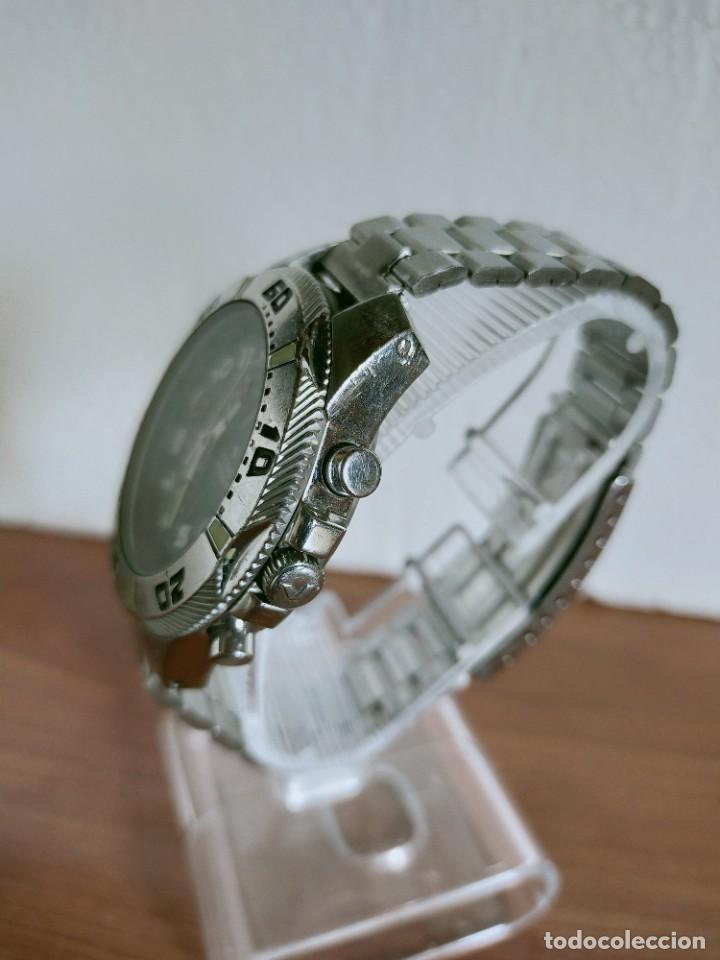 Relojes - Viceroy: Reloj caballero acero VICEROY cronografo cuarzo con calendario a las tres, correa acero no original. - Foto 6 - 213073516