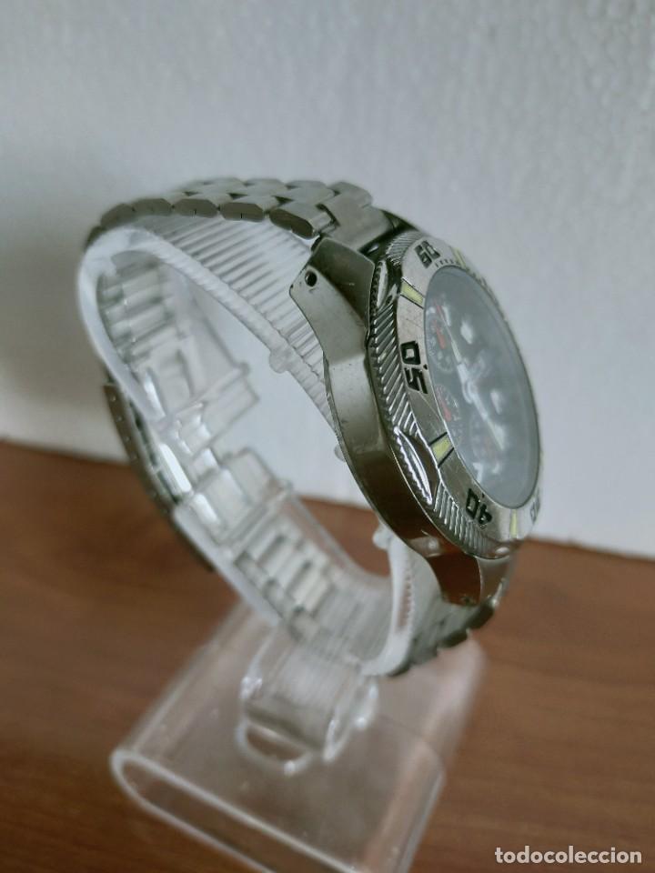 Relojes - Viceroy: Reloj caballero acero VICEROY cronografo cuarzo con calendario a las tres, correa acero no original. - Foto 9 - 213073516