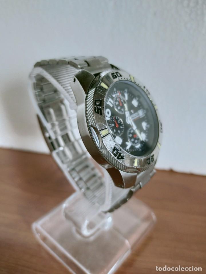 Relojes - Viceroy: Reloj caballero acero VICEROY cronografo cuarzo con calendario a las tres, correa acero no original. - Foto 15 - 213073516