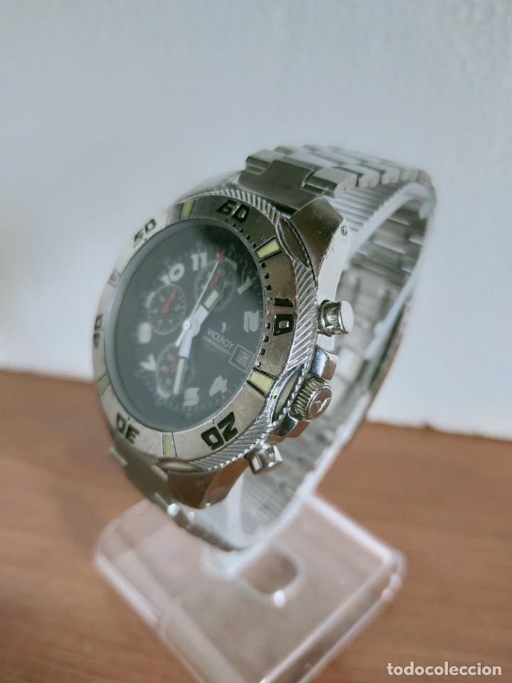Relojes - Viceroy: Reloj caballero acero VICEROY cronografo cuarzo con calendario a las tres, correa acero no original. - Foto 16 - 213073516