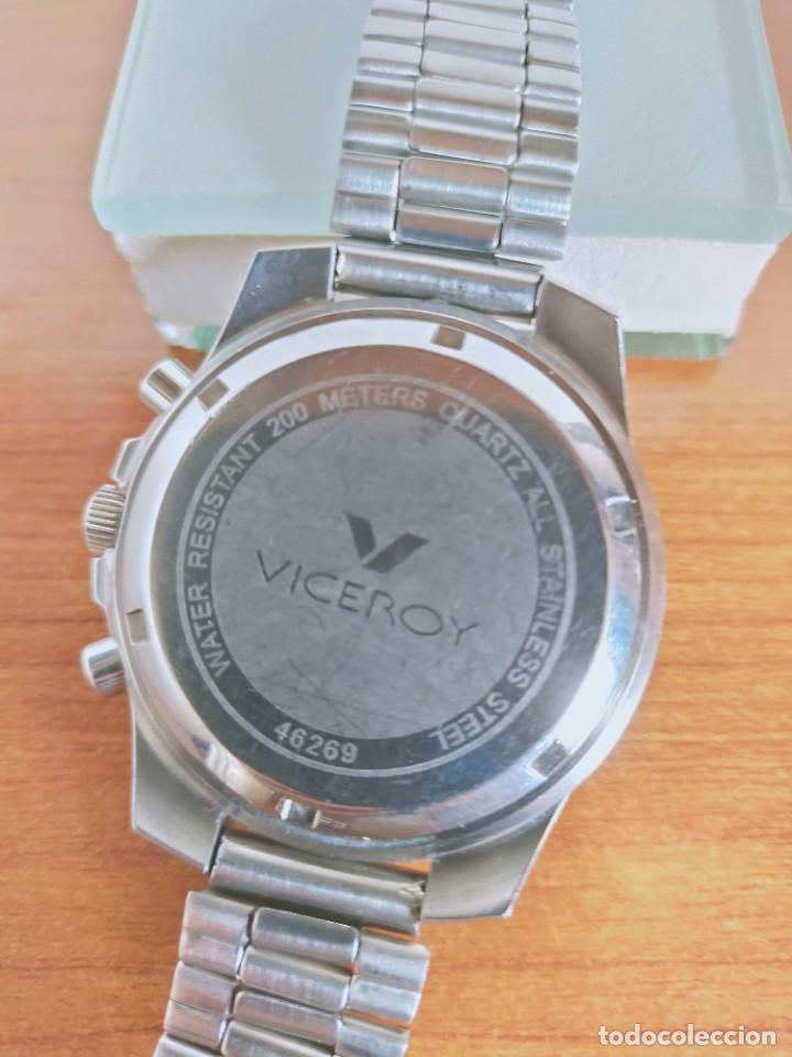 Relojes - Viceroy: Reloj caballero acero VICEROY cronografo cuarzo con calendario a las tres, correa acero no original. - Foto 17 - 213073516