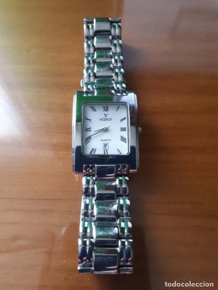 Relojes - Viceroy: RELOJ DE PULSERA QUARTZ CABALLERO MARCA VICEROY MODELO 46093 - VINTAGE. - Foto 2 - 229389925