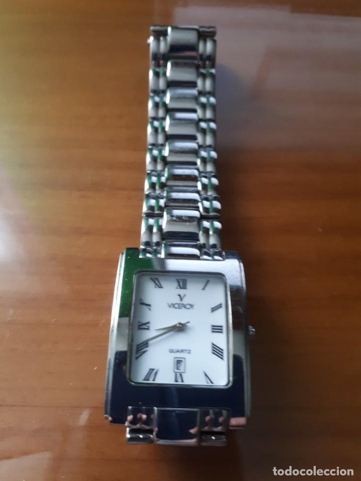 Relojes - Viceroy: RELOJ DE PULSERA QUARTZ CABALLERO MARCA VICEROY MODELO 46093 - VINTAGE. - Foto 3 - 229389925