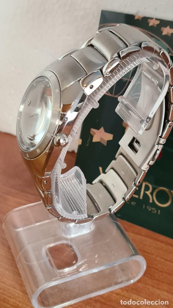 Relojes - Viceroy: Reloj caballero cuarzo Viceroy Alejandro Sanz acero, calendario cuatro, correa original de acero. - Foto 4 - 243387960