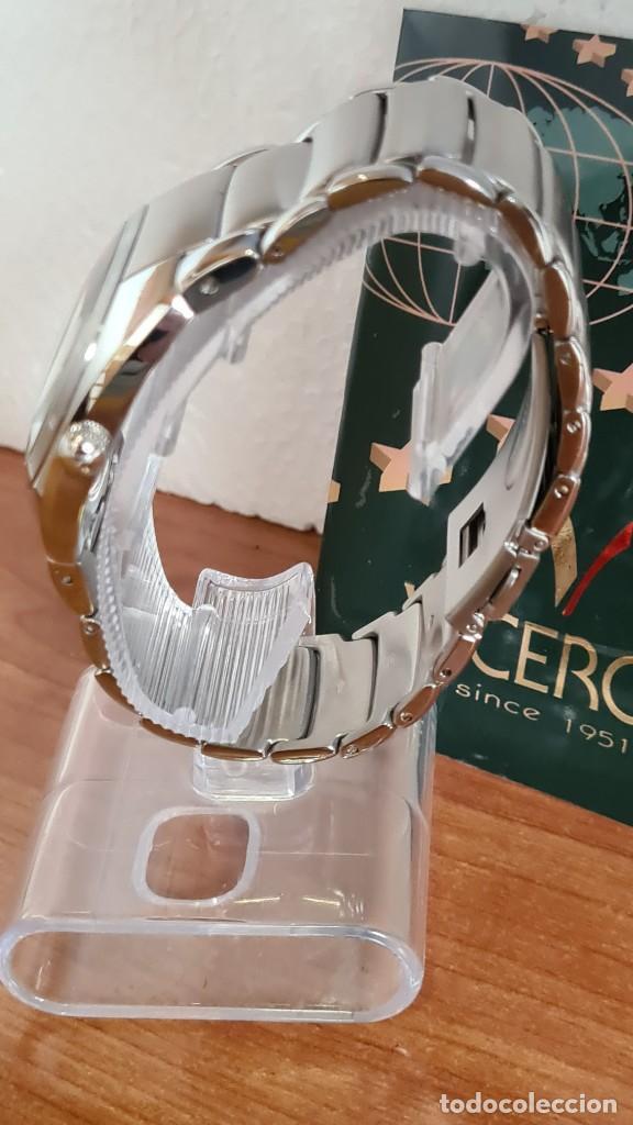 Relojes - Viceroy: Reloj caballero cuarzo Viceroy Alejandro Sanz acero, calendario cuatro, correa original de acero. - Foto 6 - 243387960