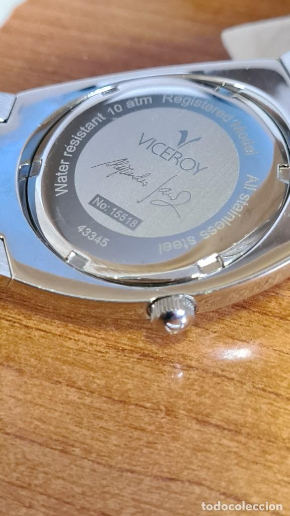 Relojes - Viceroy: Reloj caballero cuarzo Viceroy Alejandro Sanz acero, calendario cuatro, correa original de acero. - Foto 13 - 243387960