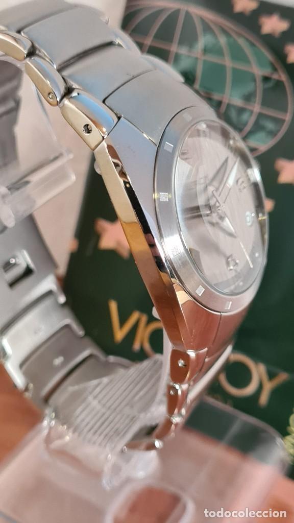 Relojes - Viceroy: Reloj caballero cuarzo Viceroy Alejandro Sanz acero, calendario cuatro, correa original de acero. - Foto 16 - 243387960