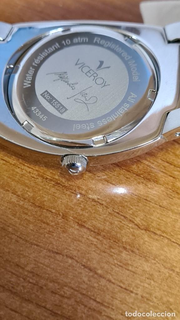 Relojes - Viceroy: Reloj caballero cuarzo Viceroy Alejandro Sanz acero, calendario cuatro, correa original de acero. - Foto 17 - 243387960