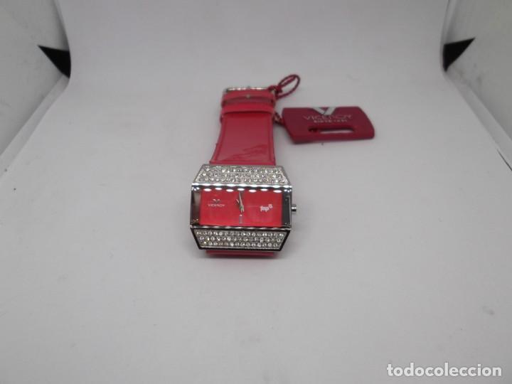 Relojes - Viceroy: Reloj Viceroy Top de señora .Correa roja de charol.Vintage - Foto 2 - 248592220