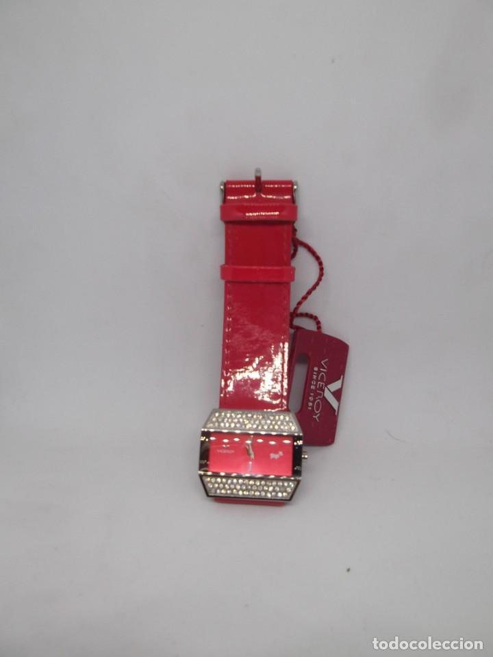 Relojes - Viceroy: Reloj Viceroy Top de señora .Correa roja de charol.Vintage - Foto 5 - 248592220