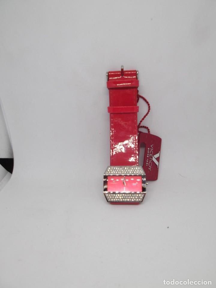 Relojes - Viceroy: Reloj Viceroy Top de señora .Correa roja de charol.Vintage - Foto 4 - 248592220