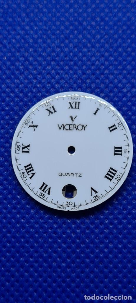 Relojes - Viceroy: Una esfera reloj marca VICEROY cuarzo blanca, 29153 para máquina ronda 705, stock taller relojeria. - Foto 4 - 249052025