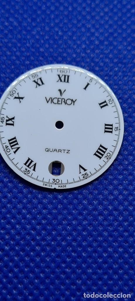 Relojes - Viceroy: Una esfera reloj marca VICEROY cuarzo blanca, 29153 para máquina ronda 705, stock taller relojeria. - Foto 5 - 249052025