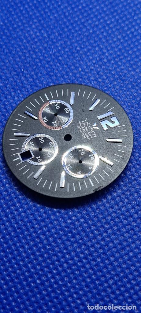 Relojes - Viceroy: Una esfera reloj marca VICEROY cuarzo cronografo y calendario a las seis, de stock taller relojeria. - Foto 3 - 249060590