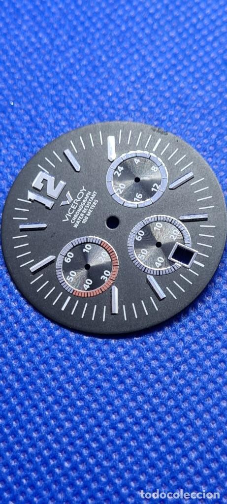 Relojes - Viceroy: Una esfera reloj marca VICEROY cuarzo cronografo y calendario a las seis, de stock taller relojeria. - Foto 5 - 249060590