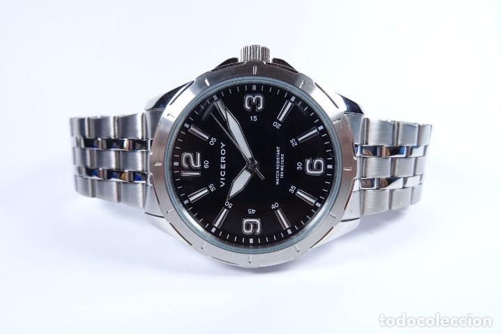 Relojes - Viceroy: Reloj viceroy clásico con en acero, con esfera negra y tres agujas - Foto 3 - 249097545