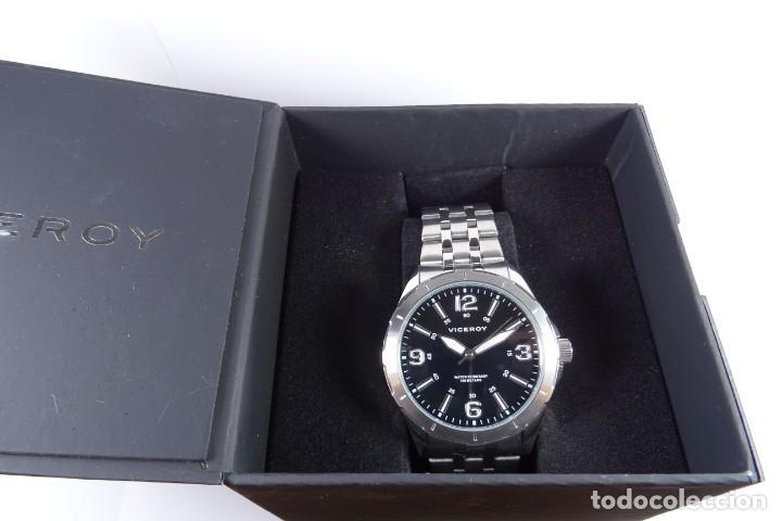 Relojes - Viceroy: Reloj viceroy clásico con en acero, con esfera negra y tres agujas - Foto 6 - 249097545