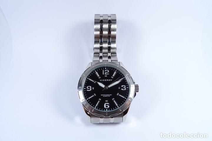Relojes - Viceroy: Reloj viceroy clásico con en acero, con esfera negra y tres agujas - Foto 7 - 249097545