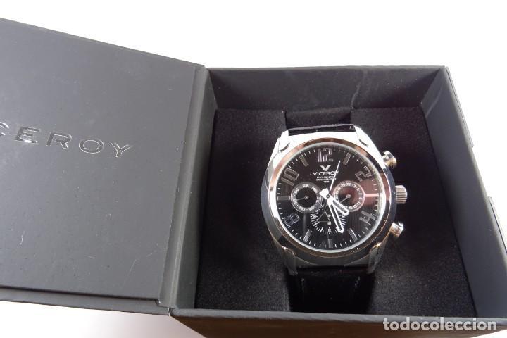 Relojes - Viceroy: Reloj viceroy clásico con en acero y cuero negro, multifunción - Foto 9 - 249097680