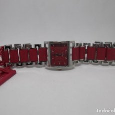 Relojes - Viceroy: RELOJ ROJO DE SEÑORA,VICEROY TOP. Lote 250127490