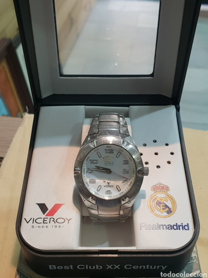 Relojes - Viceroy: RELOJ VICEROY REAL MADRID FUNCIONANDO . CABALLERO . ACERO. EN SU CAJA - Foto 2 - 253223980