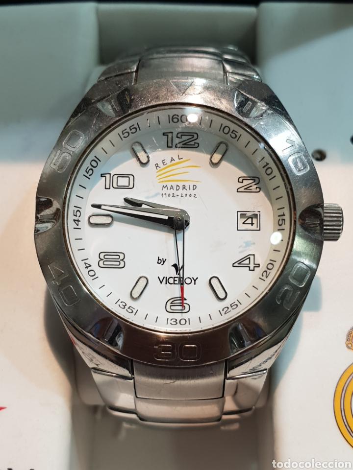 Relojes - Viceroy: RELOJ VICEROY REAL MADRID FUNCIONANDO . CABALLERO . ACERO. EN SU CAJA - Foto 3 - 253223980