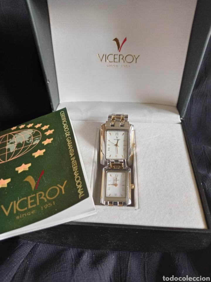 PAREJA DE RELOJES VICEROY. (Relojes - Relojes Actuales - Viceroy)