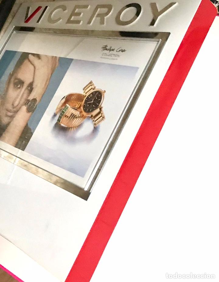 Relojes - Viceroy: CUADRO PUBLICIDAD VICEROY CON FOTOGRAFIA PENELOPE CRUZ - CARTEL 36 x 45 CM RAREZA MODELO KATE BOCK - Foto 3 - 262581685