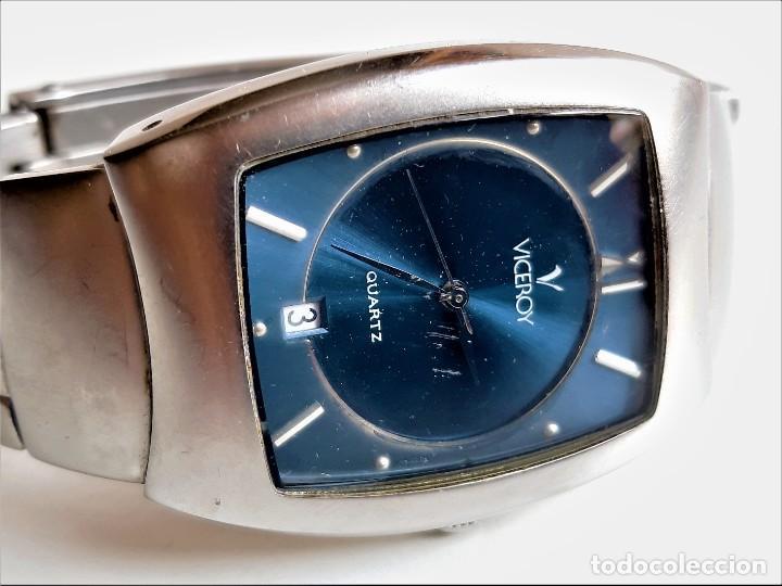 VICEROY CALENDARIO RELOJ ACERO - CAJA DE 35 X 30.MM (Relojes - Relojes Actuales - Viceroy)