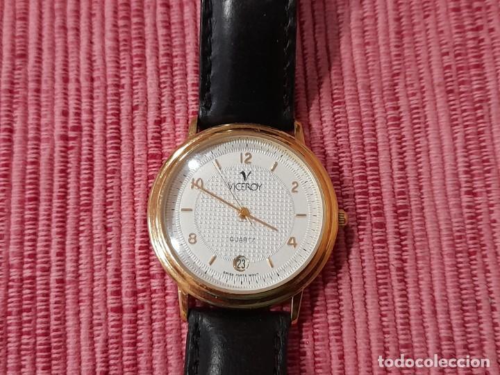 VICEROY QUARTZ CHAPADO EN ORO (Relojes - Relojes Actuales - Viceroy)
