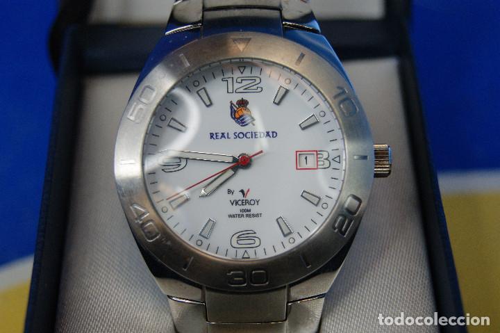 Relojes - Viceroy: Reloj de pulsera Viceroy, edición Real Sociedad de Fútbol, original. Acero Inox. 100m. Water Resiste - Foto 3 - 287199438