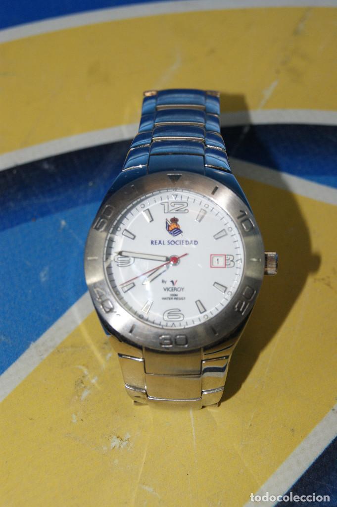 Relojes - Viceroy: Reloj de pulsera Viceroy, edición Real Sociedad de Fútbol, original. Acero Inox. 100m. Water Resiste - Foto 6 - 287199438