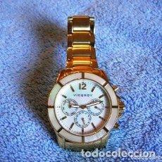 Relojes - Viceroy: RELOJ VICEROY MUJER. COLECCIÓN FEMME MOVIMIENTO MULTIFUNCIÓN. CAJA Y BRAZALETE ACERO DORADO Y NACAR. Lote 288634538