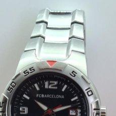 Relojes - Viceroy: RELOJ VICEROY (FC. BARCELONA) CUARZO ACERO, ESFERA NEGRA, CALENDARIO TRES CON CORREA ACERO ORIGINAL. Lote 291444133