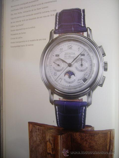 Relojes - Zenith: LIBRO catalogo ZENITH COLLECIÓN RELOJ V SWISS WATCH MANUFACTURE SINCE 1865 PAG: 180 2003 2004 - Foto 7 - 30785757