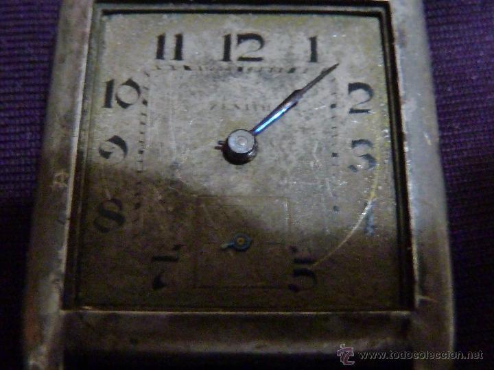 RELOJ ZENITH DE PULSERA CARGA MANUAL AÑOS 40 CON LA CAJA DE PLATA,PARA RESTAURAR,26X28MM (Relojes - Relojes Actuales - Zenith)