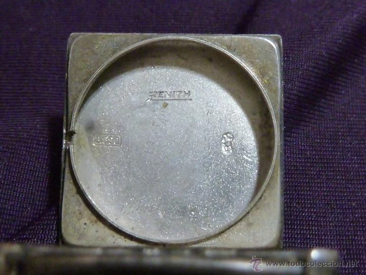 Relojes - Zenith: Reloj ZENITH de pulsera carga manual años 40 con la caja de plata,para restaurar,26x28mm - Foto 3 - 47810594