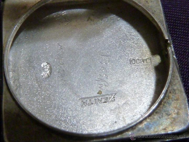 Relojes - Zenith: Reloj ZENITH de pulsera carga manual años 40 con la caja de plata,para restaurar,26x28mm - Foto 4 - 47810594