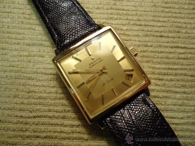 2d544f4c202a Reloj pulsera oro 18 K, ZENITH de luxe, 1965, automatico con fecha ,  IMPECABLE