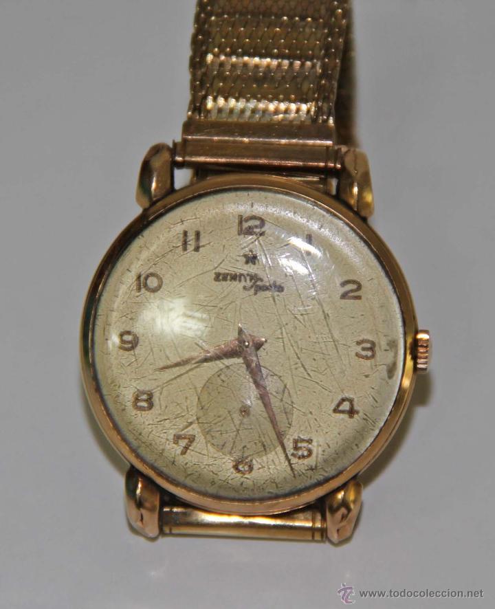 RE314 ZENITH SPORTS. CAJA EN ORO DE 18 KT. ESFERA METÁLICA. FUNCIONA. SUIZA. AÑOS 40 (Relojes - Relojes Actuales - Zenith)