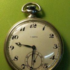 Relojes - Zenith: RELOJ DE BOLSILLO ZENITH DE PLATA . Lote 76810715